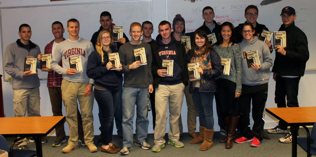 ROTC Cadets at the University of Virginia with their SMARTleader book donations from The Lightning Press (Military Reference SMARTbooks)! In partnership with Things We Read, we sent out another $30,000 worth of free SMARTbooks this fall to help develop, foster and inspire the cadets at ROTC and JROTC programs throughout the country to become intelligent, informed military leaders needed for the Nation's future. That's $100,000 in free books in total this year! Learn more at: https://www.thelightningpress.com/smartleader-program/